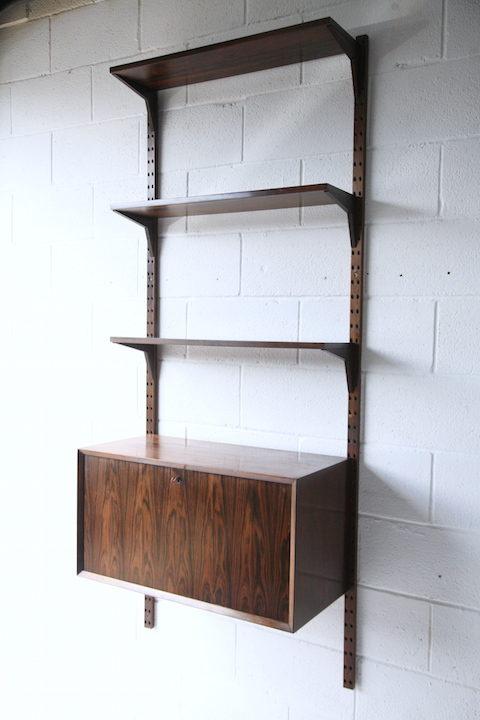 1960s Danish Rosewood Poul Cadovius Bureau and Shelves 2