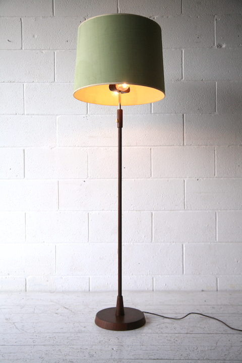 1960s Danish Teak Floor Lamp 1