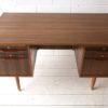 1960s Teak and Walnut Writing Desk 1