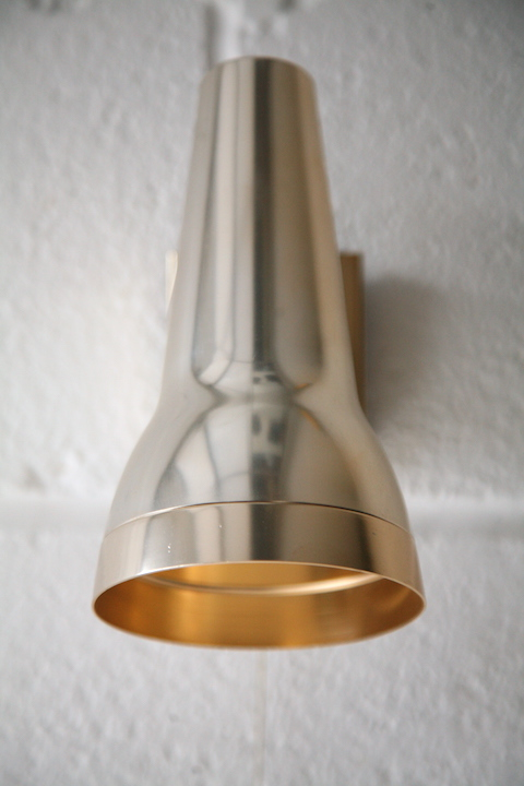1970s Anodised Wall Light By Conelight Cream And Chrome