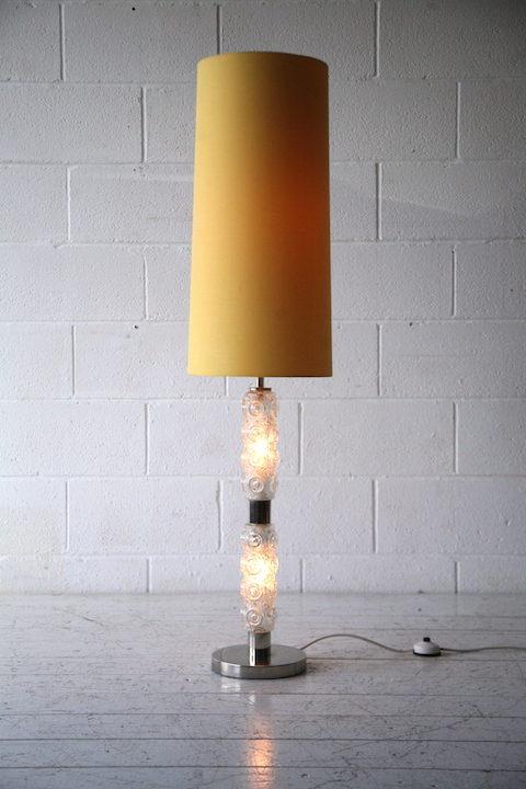 1970s Glass Floor Lamp 3
