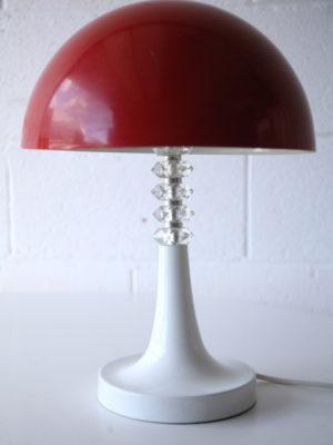 1970s Red Mushroom Lamp