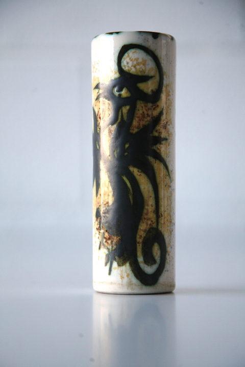 Celtic Pottery Cylinder Vase