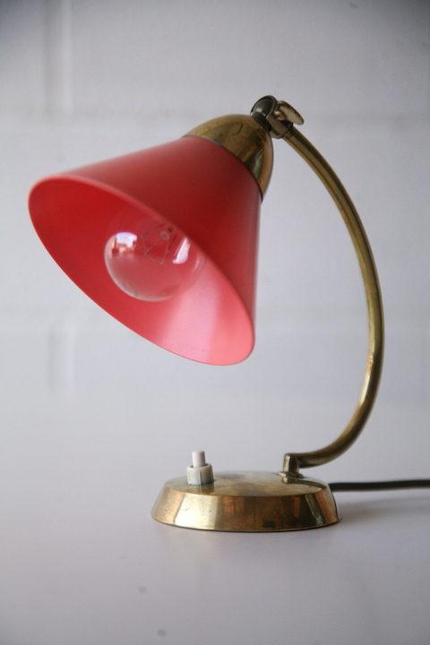 Vintage Brass 50s Desk Lamp