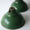 Vintage Industrial Green Enamel Light Shades
