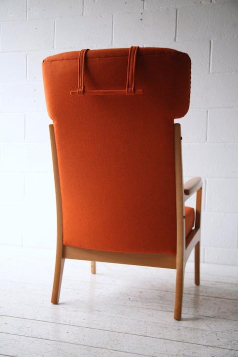 1960s Beech Armchair | Cream and Chrome