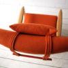 1960s Beech Armchair in Orange Wool 3
