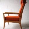 1960s Beech Armchair in Orange Wool 4