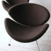 Brown Slice Chairs by Pierre Paulin for Artifort