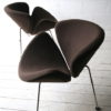 Brown Slice Chairs by Pierre Paulin for Artifort 2