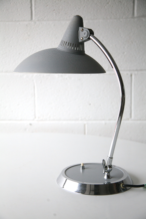 1950s Desk Lamp By Kaiser Germany Cream And Chrome