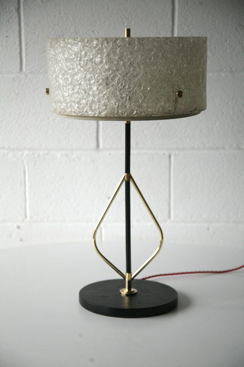 1950s French Table Lamp By Lunel Cream And Chrome