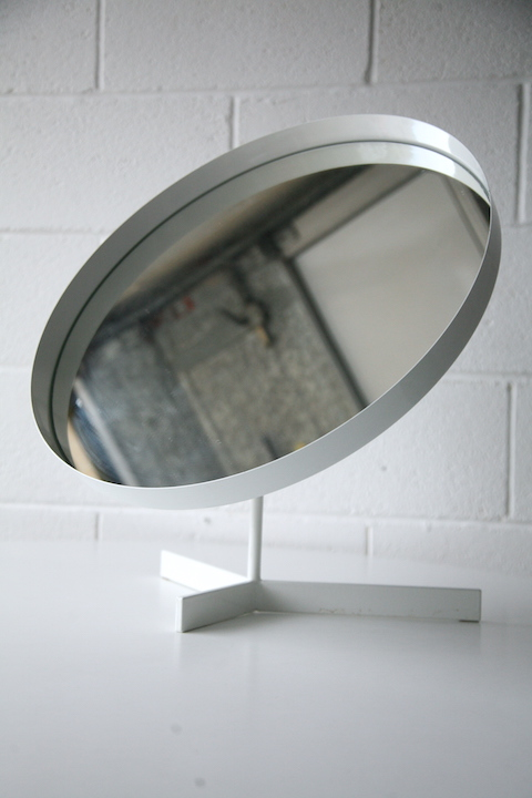 Large Vanity Mirror By Durlston Design Cream And Chrome