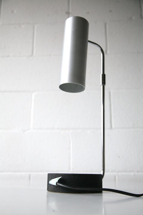 Aluminium Desk Lamp By Habitat Cream And Chrome