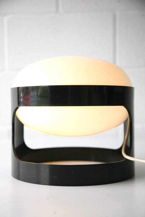 Kd27 Table Lamp By Joe Colombo For Kartell Cream And Chrome