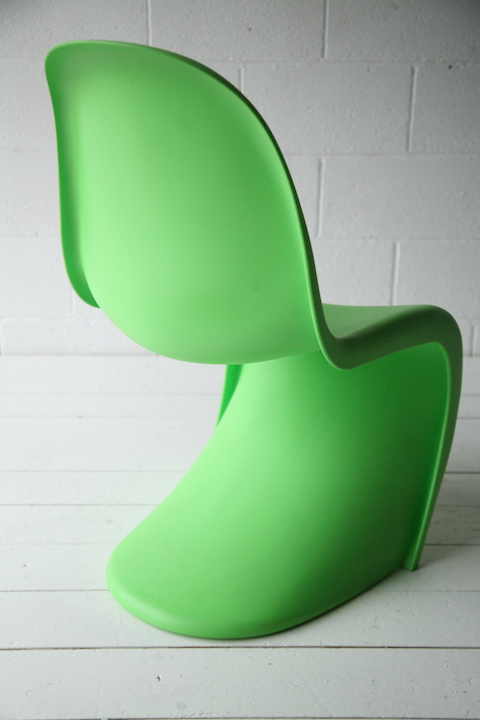 verner panton chair for vitra cream and chrome. Black Bedroom Furniture Sets. Home Design Ideas