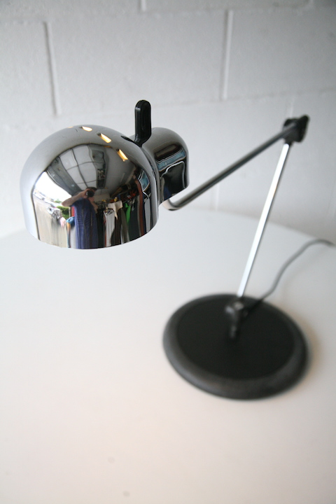 Topo Lamp By Joe Colombo For Stilnovo Cream And Chrome