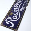 Vintage Enamel Rowntrees Pastilles Sign