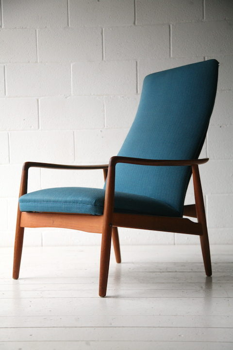Vintage Reclining Lounge Chair by Alf Svensson