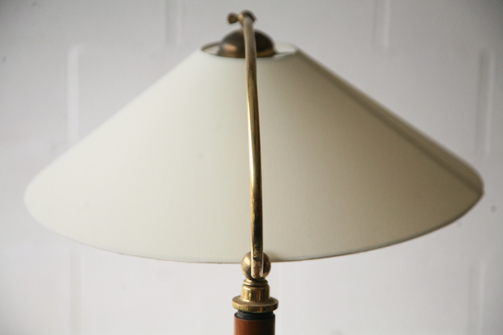 1930s floor lamp with walnut side table cream and chrome for 1930s floor lamp