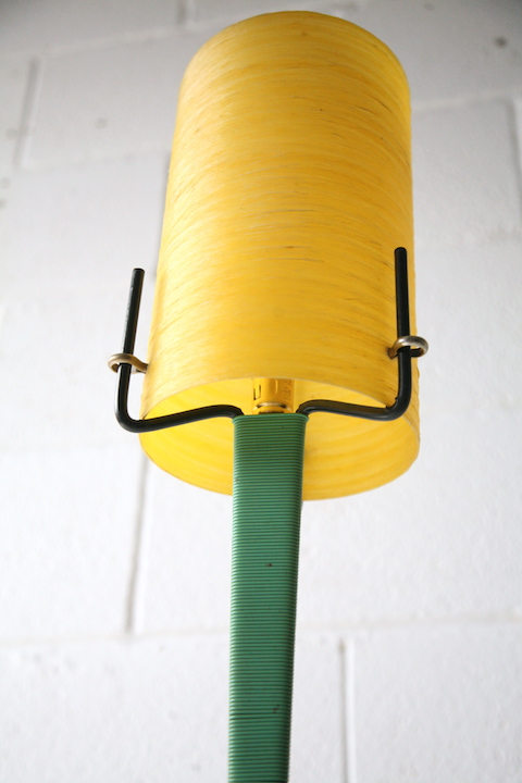 1950s Atomic Floor Lamp With Fibreglass Shade Cream And