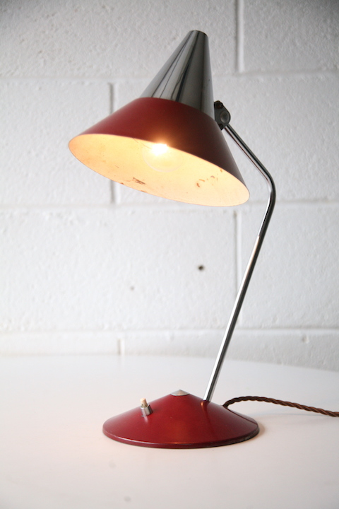 1950s Desk Lamp By Helo Cream And Chrome