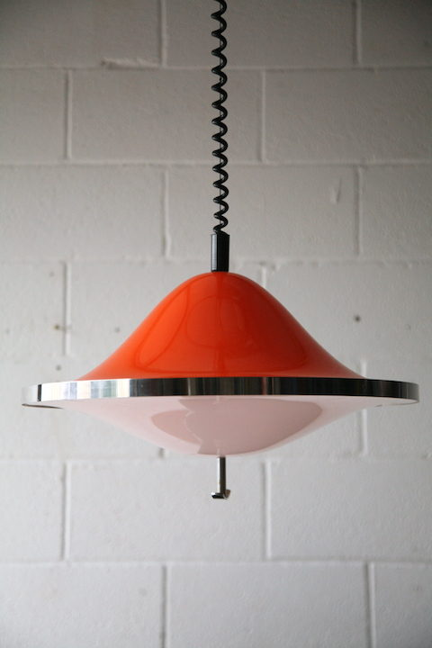 1970s-orange-rise-and-fall-ceiling-light-4