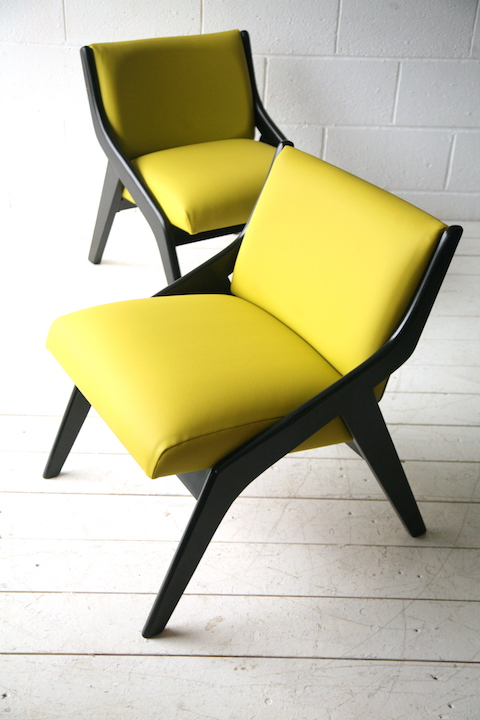 1950s Chairs By Morris Of Glasgow Cream And Chrome