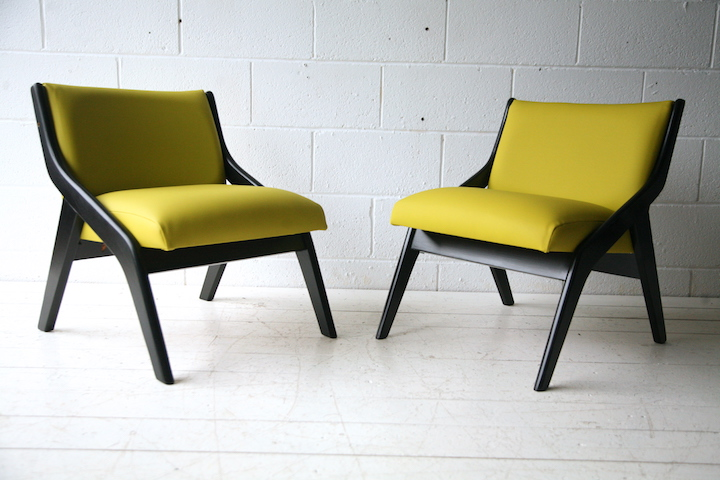 ... Pair Of Yellow 1950s Chairs By Morris Of  ...