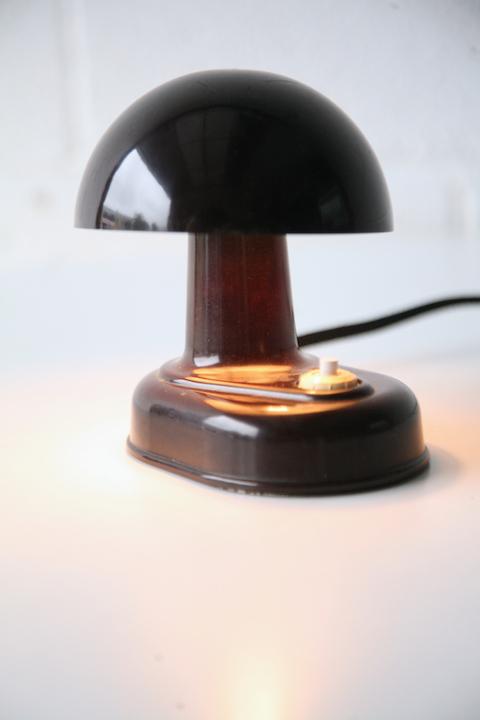 Vintage 1950s Bakelite Desk Lamp Cream And Chrome