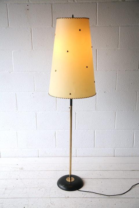 Vintage German Floor Lamp | Cream and Chrome