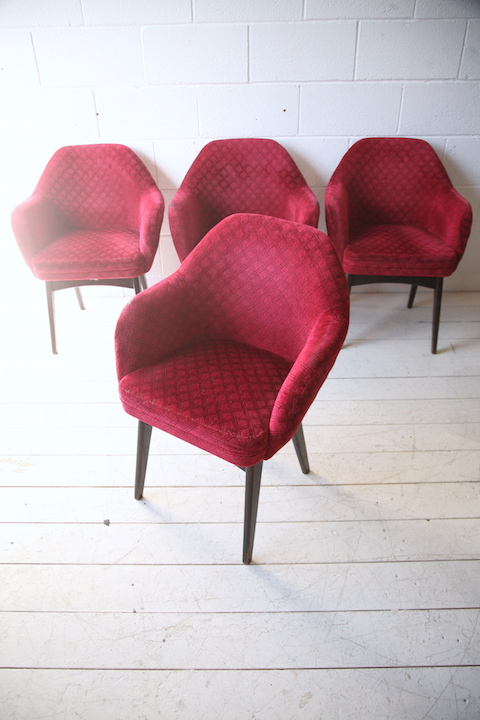 Vintage 1970s Chairs By Ben Chairs Cream And Chrome