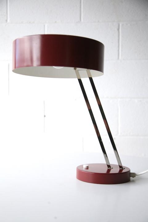 1950s Chrome Desk Lamp Cream And Chrome