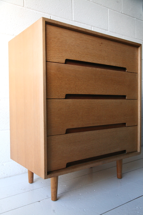 1950s Chest Of Drawers By Stag Cream And Chrome