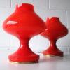 1970s-orange-glass-table-lamps