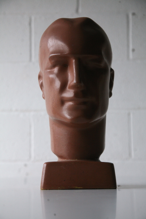 1950s Mannequin Head Cream And Chrome