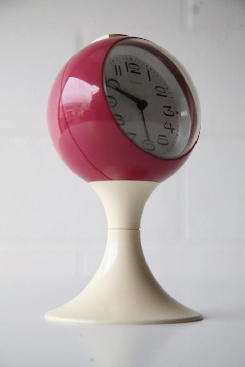 1960s Salvest Alarm Clock Cream And Chrome