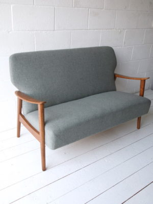 1950s Danish Oak Sofa 8