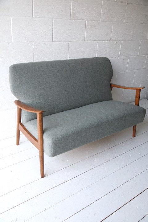1950s Danish Oak Sofa 8