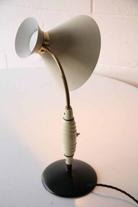 1950s Desk Lamp By Jumo Cream And Chrome