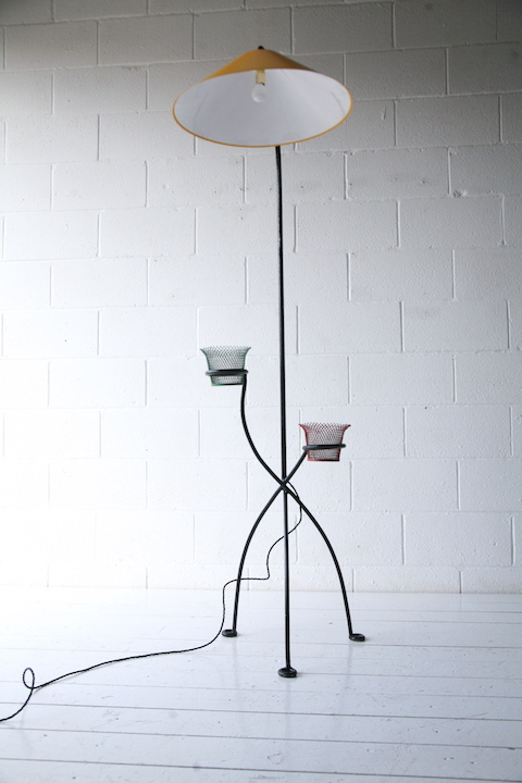 1950s Floor Lamp | Cream and Chrome
