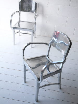 1950s Polished Aluminium Chairs 4