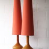1960s Amber Glass Table Lamps 1