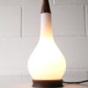1960s Teak and Glass Table Lamp
