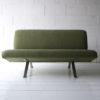Green Steel Framed 2 Seater Sofa 1