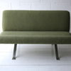 Green Steel Framed 2 Seater Sofa