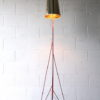 Large 1950s Steel Floor Lamp & Shade