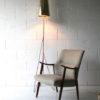 Large 1950s Steel Floor Lamp & Shade 3