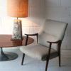 Large Vintage Ceramic Lamp & Shade 1