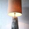 Large Vintage Ceramic Lamp & Shade 3